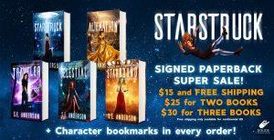 Starstruck Saga signed paperbacks